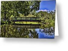 Lovers Bridge Greeting Card