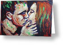 Lovers - Colours And Kisses Greeting Card