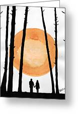 Lovers In Forest Greeting Card