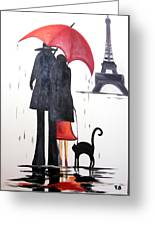 lovers in Paris Greeting Card