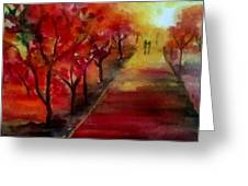 Lovers' Lane Greeting Card