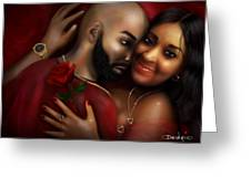 Lovers Portrait Greeting Card