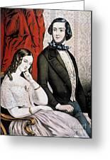 Lovers Quarrel, 1846 Greeting Card