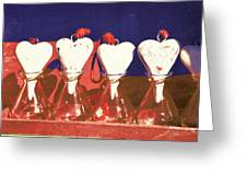 Loves On A Row Greeting Card