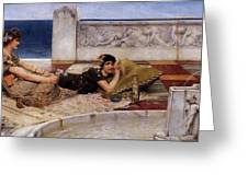 Loves Votaries Lawrence Alma-tadema Greeting Card