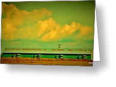 Low And Low Green Building Greeting Card