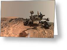 Low-angle Self-portrait Of Nasa's Curiosity Mars Rover Greeting Card