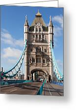 Low Angle View Of Tower Bridge, London Greeting Card