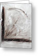 Low Cool Abstract Painting Greeting Card