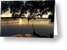 Low Country Sunset Greeting Card