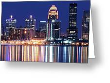 Low Moon Over Louisville Greeting Card