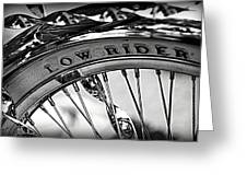 Low Rider In Black And White Greeting Card