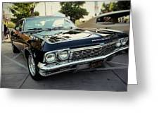 Low Rider In Black Greeting Card
