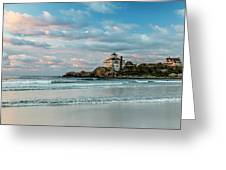 Low Tide A Sunrise Greeting Card