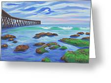 Low Tide At Haskell's Beach Greeting Card