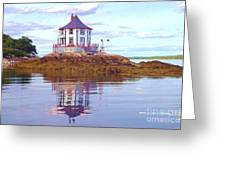 Low Tide At Nubble House Greeting Card
