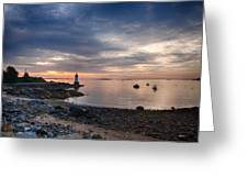 Low Tide At Salem's Lighthouse Greeting Card