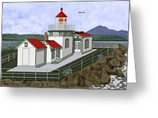 Low Tide At West Point Lighthouse In Seattle Greeting Card