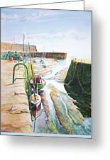 Low Tide Dysart Harbour Greeting Card