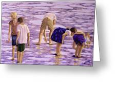 Low Tide Exploration Greeting Card