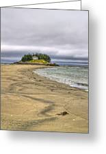 Low Tide In Popham Beach Maine Greeting Card