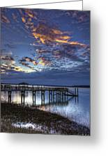 Low Tide Long Dock Greeting Card
