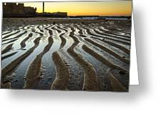 Low Tide On La Caleta Cadiz Spain Greeting Card