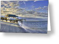 Low Tide Sunrise Tybee Island Greeting Card