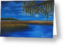 Lowcountry Moon Greeting Card by Stanton Allaben