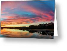 Lowcountry Sunset Charleston Sc Greeting Card