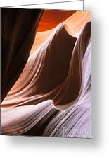 Lower Antelope Slot Canyon Greeting Card