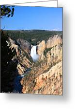 Lower Falls @ Yellowstone National Park Greeting Card