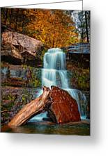 Lower Falls At Kaaterskill Greeting Card