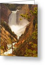 Lower Falls From Artists Viewpoint Greeting Card