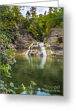 Lower Falls Of Enfield Glen Robert H. Treman State Park Greeting Card