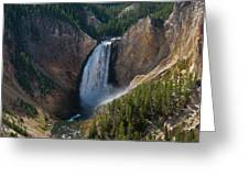 Lower Falls Of Yellowstone River Greeting Card