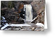 Lower Falls On Fall River Greeting Card