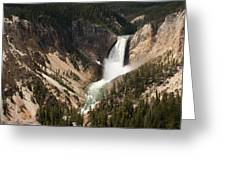 Lower Falls Yellowstone River Greeting Card