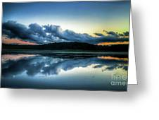 Lower Lake Sunset Greeting Card
