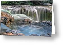 Lower Lewis River Falls Rush Greeting Card