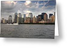 Lower Manhattan From The Hudson Greeting Card