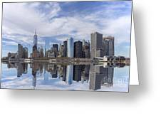 Lower Manhattan Nyc Greeting Card