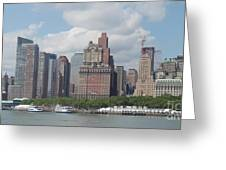 Lower Manhattan Panorama Greeting Card