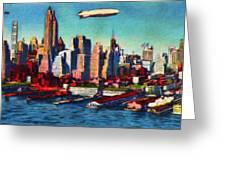 Lower Manhattan Skyline New York City Greeting Card