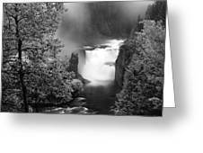 Lower Mesa Falls Greeting Card