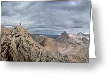 Lower North Eolus From The Catwalk - Chicago Basin - Weminuche Wilderness - Colorado Greeting Card