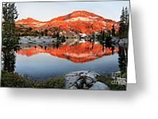Lower Ottoway Lake Sunset - Yosemite Greeting Card