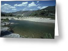 Lower Sisquoc River - San Rafael Wilderness Greeting Card