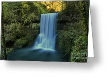 Lower South Falls Landscape Greeting Card