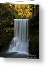 Lower South Falls Portrait Greeting Card